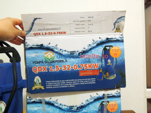"Pompa submersibila cu plutitor QDX-32M Micul Fermier 0,75 kW; 32m; 1"" 7"