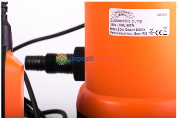 Pompa submersibila de plastic pentru apa murdara 900W Micul Fermier