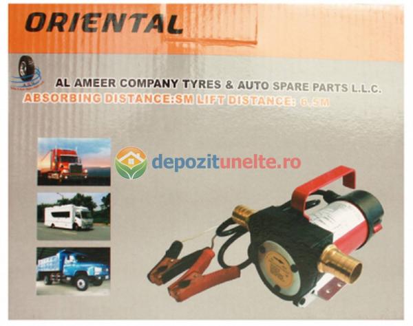 Pompa transfer combustibil camion rezervoare mari autoamorsata motorina 12V 5
