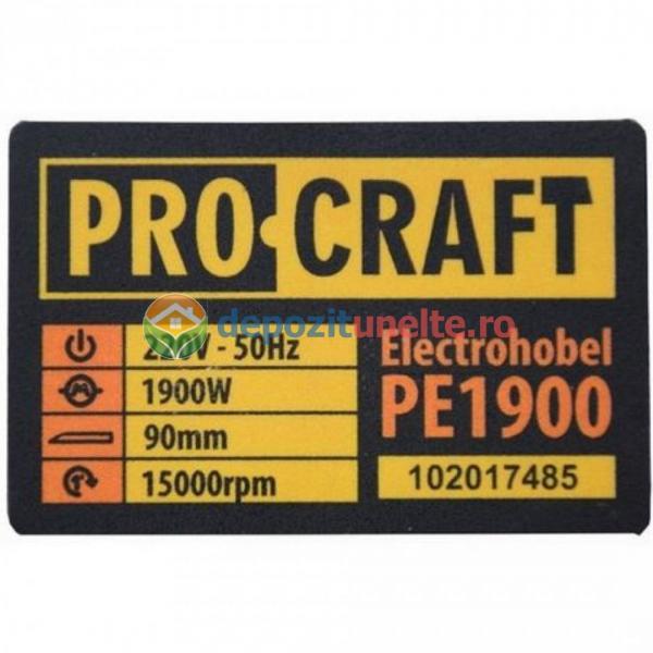 Rindea Electrica 1900W, 15000Rpm + Cutie, ProCraft PE1900, Model 2019 6