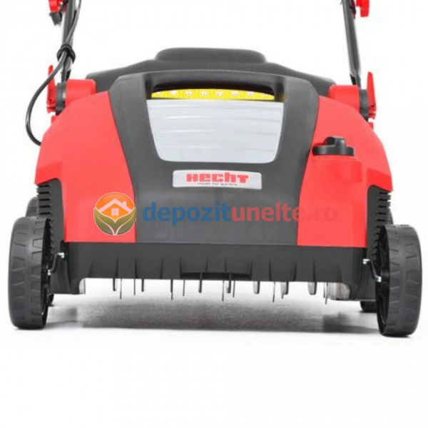 Scarificator si aerator de gazon electric HECHT 1538 2 in 1, 1500 W, sac colectare 50 l 1
