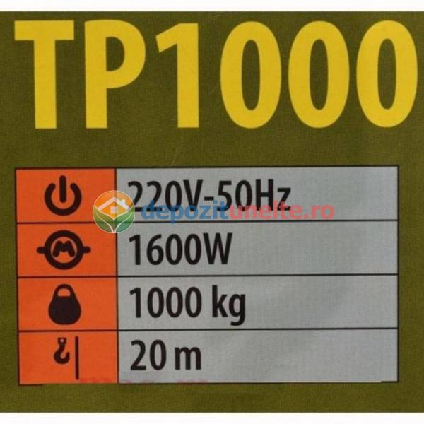 SCRIPETE PROCRAFT TP-1000, 1600W, 1000KG, TROLIU MACARA ELECTRICA - PALAN ELEVATOR [5]