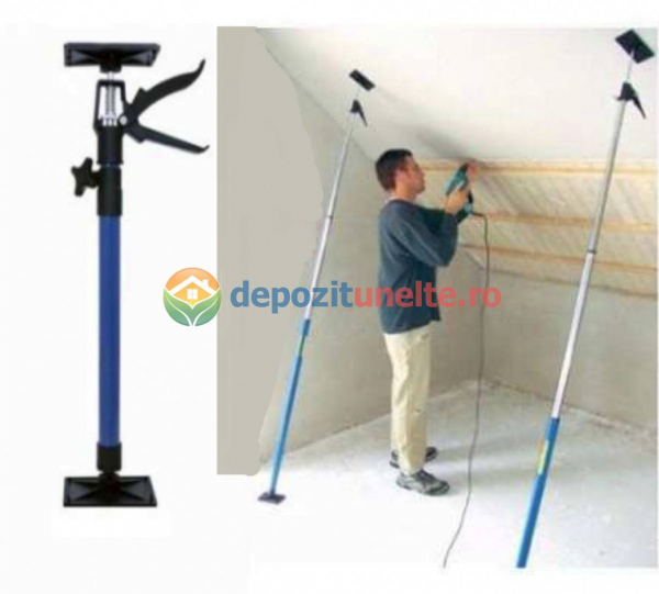 Suport telescopic pentru montaj placi rigips, gips carton 45  /180 grade 1150 - 2900 mm 4