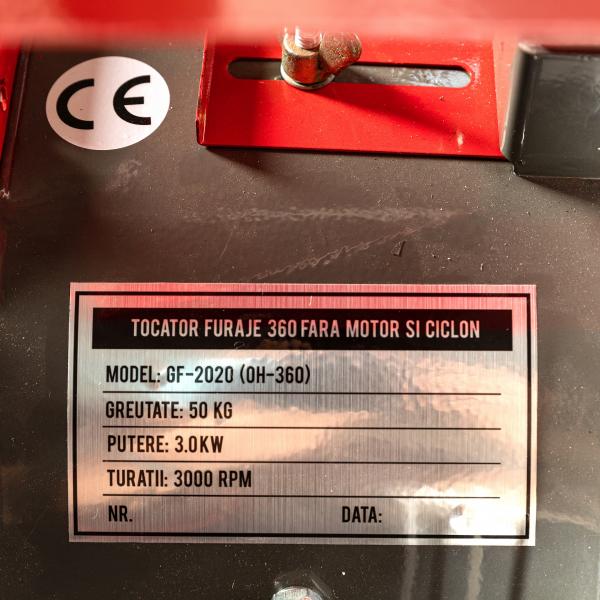 Moara cereale + Tocator Furaje (2 in 1) OH - 360, 500Kg/Ora cereale, 200Kg/Ora furaje -  4 site incluse FARA TURBINA pentru CICLON, Fara motor 7