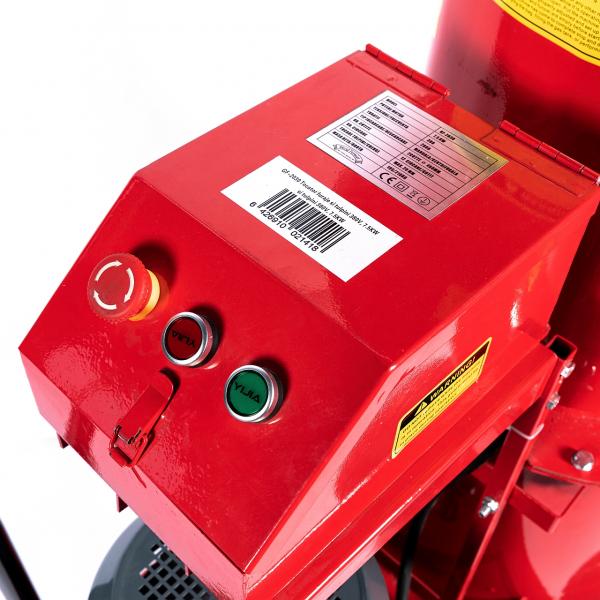 Tocator electric pentru furaje, resturi vegetale si tulpini groase cu motor trifazat 7,5kW, tensiune 380V [8]