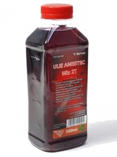 Ulei amestec MIX 2T ROSU pentru drujba si MTC (motocositori) 1