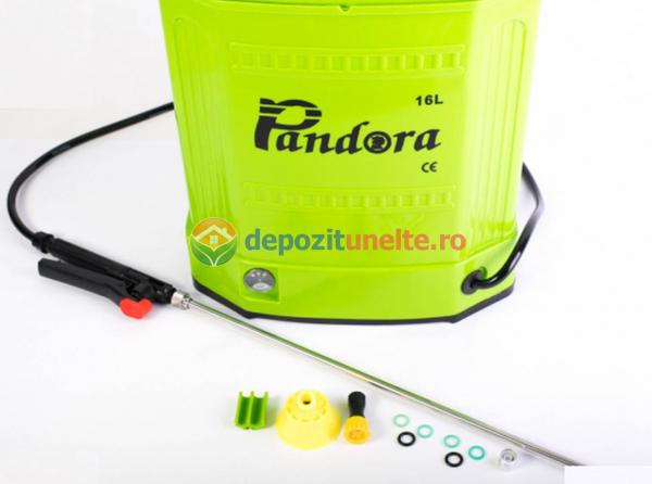 Vermorel electric cu acumulator / Pompa de stropit electrica Pandora 16 litri MODEL 2018 ACUMULATOR INTERSCHIMBABIL