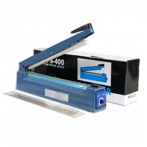 Aparat de lipit si sigilat pungi Impulse Sealer Pfs 400, albastru0