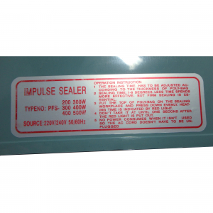 Aparat de lipit si sigilat pungi Impulse Sealer Pfs 400, albastru8