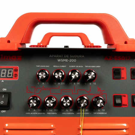 Aparat de sudura TIG / MMA WSME-200, 200A Almaz AZ-ES017, diametru electrod 1.6 - 4mm [5]