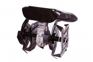 Cultivator adaptor pentru motocositoare cu transmisie pe 9 pini, sapa pentru prasit adaptat pentru motocositoare 28 mm0