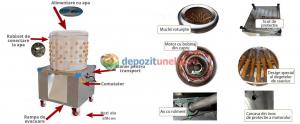 Deplumator electric automat PROFESIONAL jumulitor pentru pasari 230V - 2200W7