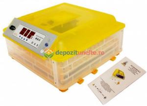 Incubator automat 48 oua de gaina si 132 oua de prepelita , clocitoare cu intoarcere automata si controlul umiditatii MODEL 20180