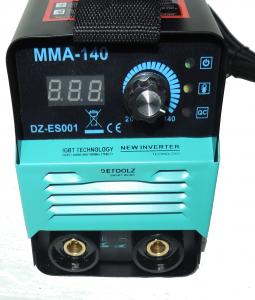 Invertor de sudura ULTRAPORTABIL - DZ-ES001 supraventilat, clasa compacta, Tehnologie IGBT- MMA-140 A cu functie de protectie la functionarea la mersul in GOL (  Modul VRD) + HOT START + ANTISTICK + A4