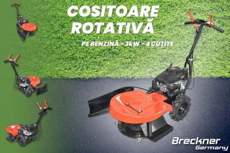 Masina de tuns iarba cu disc rotativ Breckner BP79, 3.5 CP, diametru lucru 58 cm, 3 lame, 1 viteza [10]