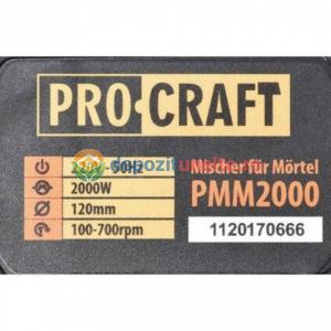 MIXER MATERIALE CONSTRUCTII PROCRAFT PMM2000, 2000W, 700RPM5