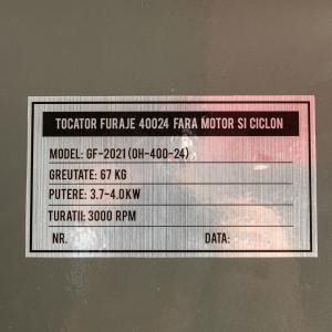 Moara Cereale + Tocator Furaje (2 In 1) OH-400-24, FARA TURBINA tip CICLON, FARA MOTOR  - Capacitate 1000kg/H8