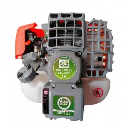 Motocositoare pe benzina Fermax ES-4300, cu pornire electrica si manuala, 4.7 CP, 9000 rpm, 8 accesorii incluse [4]