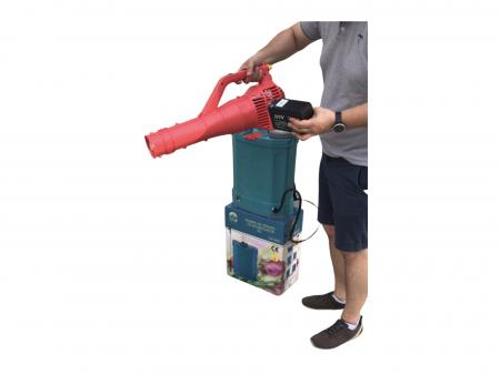 Pachet Protectia plantelor - Pompa de stropit electrica cu acumulator Pandora 16 Litri -12V 8Ah cu regulator de presiune + Atomizor electric portabil ELEFANT cu spatiu montaj acumulator ( suflanta [1]