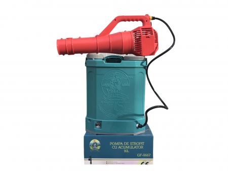 Pachet Protectia plantelor - Pompa de stropit electrica cu acumulator Pandora 16 Litri -12V 8Ah cu regulator de presiune + Atomizor electric portabil ELEFANT cu spatiu montaj acumulator ( suflanta [0]