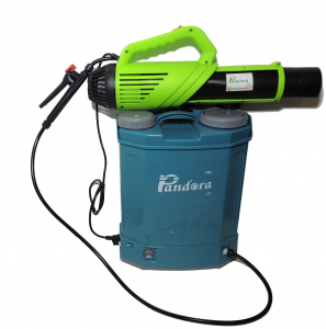 Pachet Protectia plantelor -  Pompa de stropit electrica cu acumulator Pandora 16 Litri -12V 8Ah cu regulator de presiune  + Atomizor electric portabil ( suflanta cu pulverizare)2