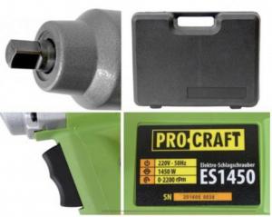 PISTOL ELECTRIC DE IMPACT PROCRAFT ES1650, 1650W, 450NM. 2200RPM3