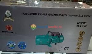 "Pompa apa de suprafata JET100L , 1500W, 1"" tol, 9 m 100% CUPRU7"