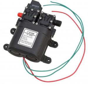 Pompa de apa cu presostat incorporat, autoamorsata, avand un corp dublu, alimentata la 12V cc, 3A  cu un debit de 8 litri / minut; Putere de 6.9bar (110PSI)5