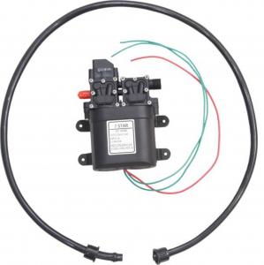 Pompa de apa cu presostat incorporat, autoamorsata, avand un corp dublu, alimentata la 12V cc, 3A  cu un debit de 8 litri / minut; Putere de 6.9bar (110PSI)4