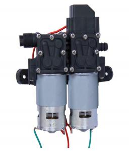 Pompa de apa cu presostat incorporat, autoamorsata, avand un corp dublu, alimentata la 12V cc, 3A  cu un debit de 8 litri / minut; Putere de 6.9bar (110PSI)1