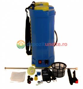 Pompa de stropit electrica cu acumulator Pandora 16L Micul fermier 2020 - Vermorel electric cu baterie11