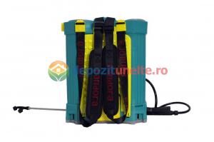 Pompa de stropit electrica PANDORA 12L, vermorel electric cu acumulator de 12V 8Ah 5,5 bar si regulator de presiune2