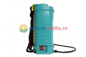 Pompa de stropit electrica PANDORA 12L, vermorel electric cu acumulator de 12V 8Ah 5,5 bar si regulator de presiune4