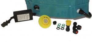 Pompa stropit electrica + Manuala ( 2 in 1 ) 16 Litri 5,5 Bar, Model 2019 + regulator presiune, Vermorel electric cu baterie - acumulator 12V 8Ah4