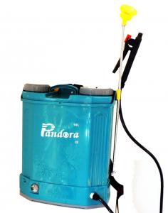 Pompa stropit electrica Pandora 16 Litri 5.5 Bar, Model 2019 + regulator presiune, Vermorel electric cu baterie - acumulator 12V 8Ah