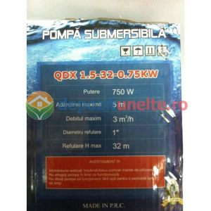 "Pompa submersibila cu plutitor QDX-32M Micul Fermier 0,75 kW; 32m; 1""4"