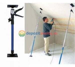 Suport telescopic pentru montaj placi rigips, gips carton 45  /180 grade 1150 - 2900 mm4