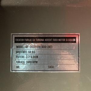 Moara Cereale + Tocator Furaje (2 In 1) Oh-400-24t, cu TURBINA Ciclon, 1000kg/H, (fara motor si ciclon)11