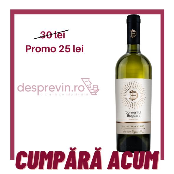 Domeniul Bogdan - Premium Organic Sauvignon Blanc