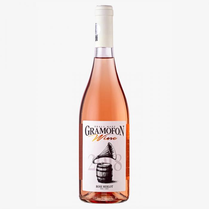 Rose Merlot Gramofon Wine Desprevin.ro 0