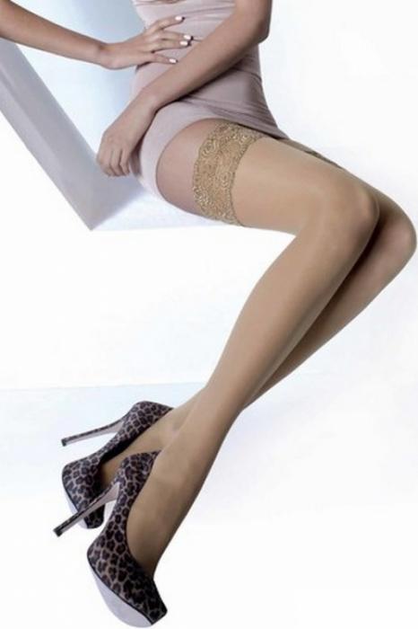 Ciorapi cu banda adeziva 15 DEN Nicole 0