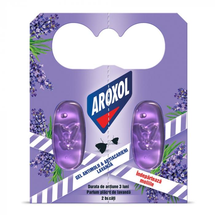 Aroxol Gel Antimolii Lavanda 2 buc [0]