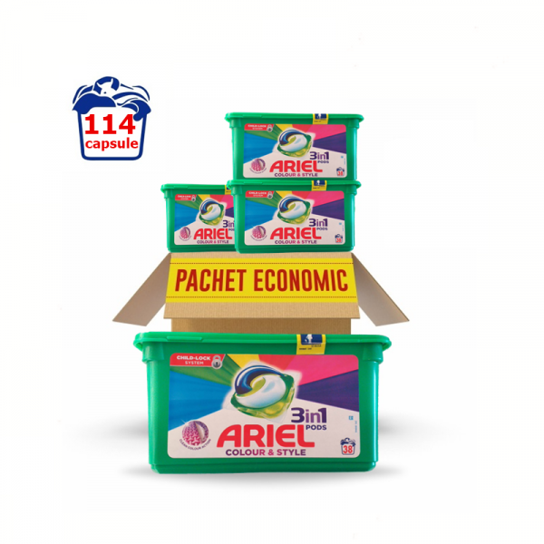 Ariel 3 In 1 Pods Color 114 Capsule 0