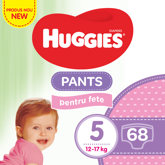 HUGGIES PANTS GIRL NR 5 68BUC/PACH 0