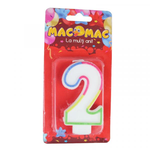Mac-Mac Lumanare Aniversara Cifra 2 0