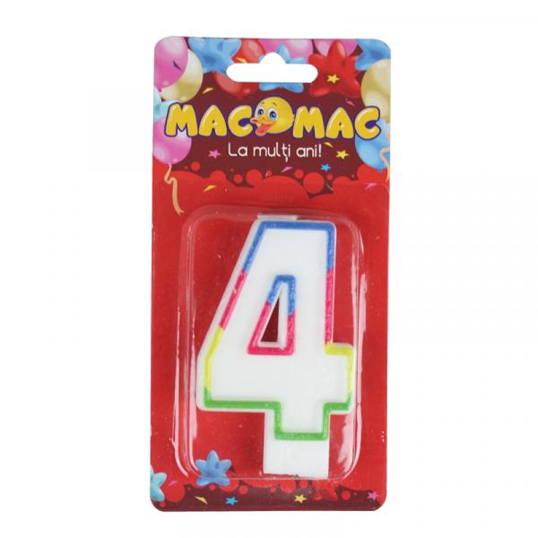 Mac-Mac Lumanare Aniversara Cifra 4 0
