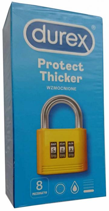 Durex Prez. Protect Thicker 8 buc [0]