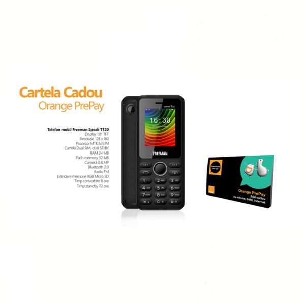 Freeman Speak Telefon T120 Cu Cartela Orange Preplay Inclusa 5euro 0