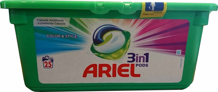Ariel 3in1 Color&Style 25caps 0
