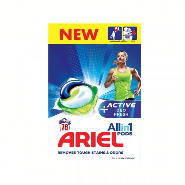 Ariel All In One Pods Plus Active 78 Spalari 0